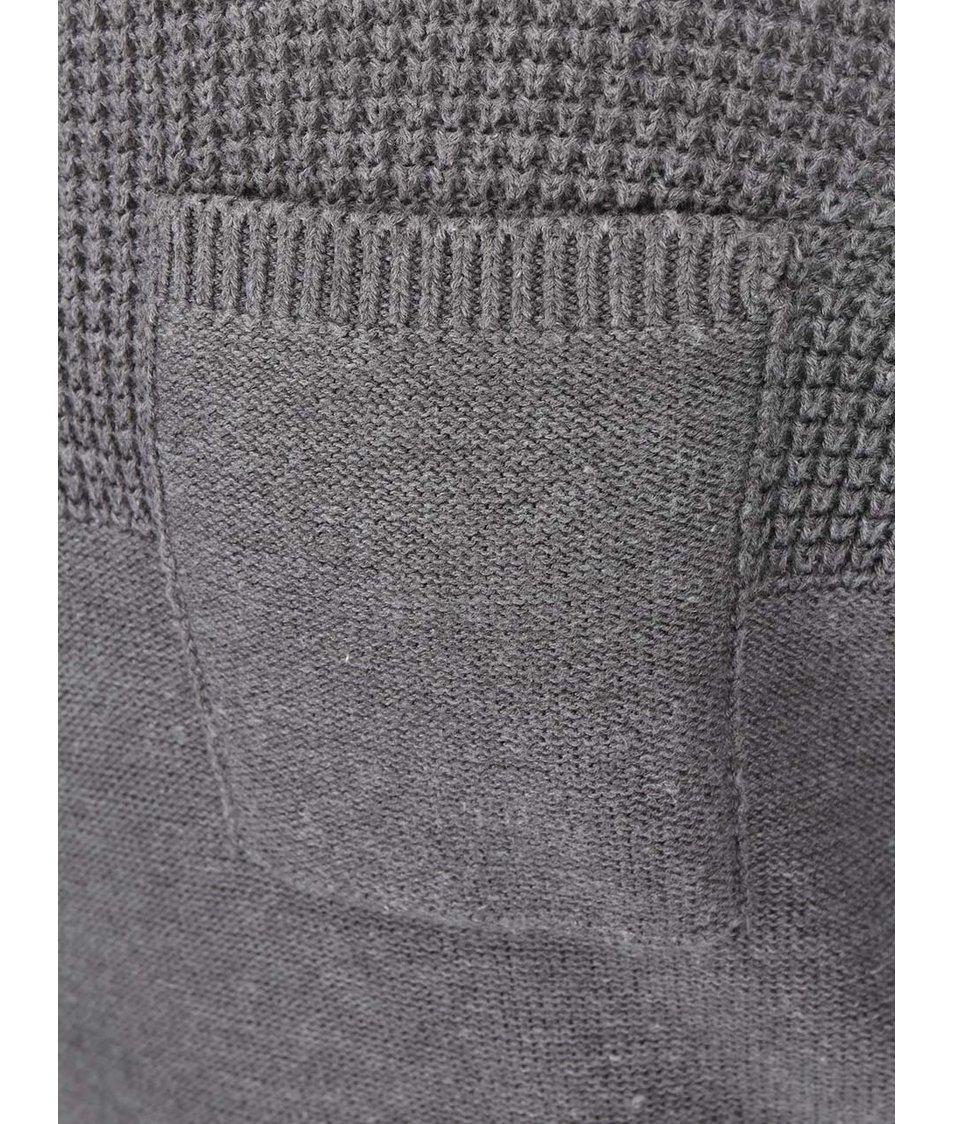 Šedý svetr s kapsou Blend