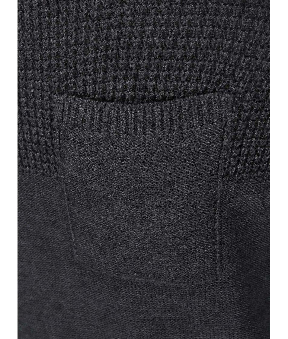 Tmavě šedý svetr s kapsou Blend