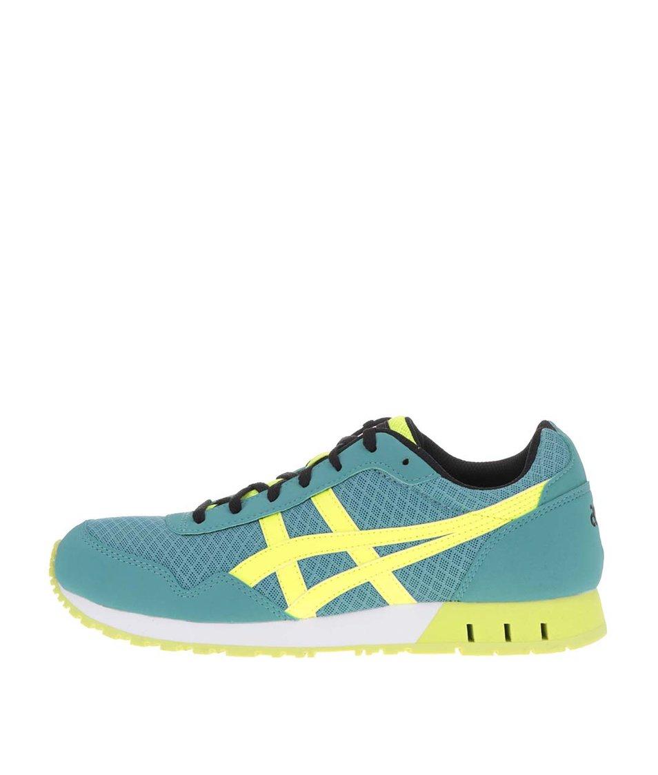 Žluto-modré dámské tenisky ASICS Curreo
