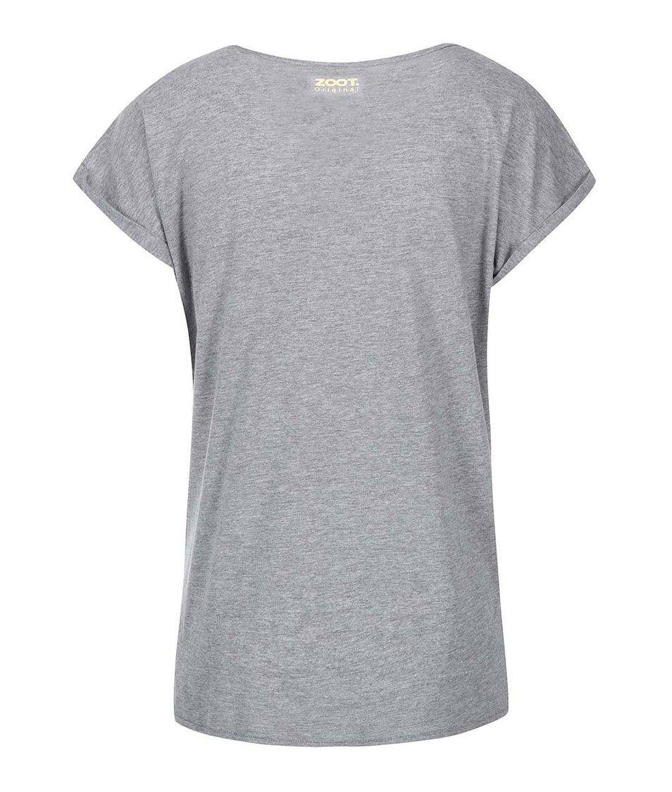 Šedé dámské tričko ZOOT Originál Stojím pod jmelím