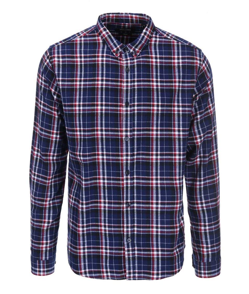 Červeno-modrá kostkovaná košile ONLY & SONS Hak