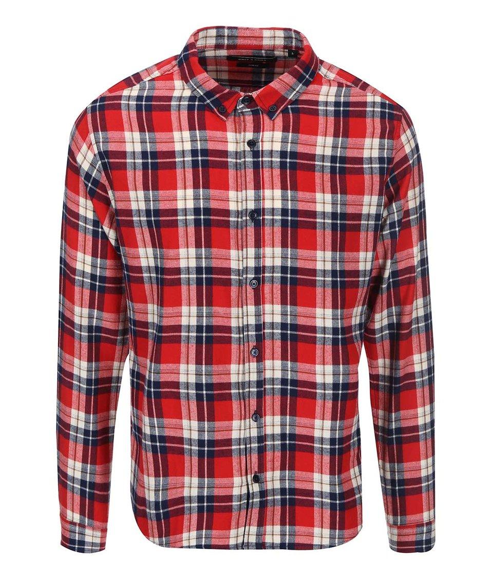 Modro-červená kostkovaná košile ONLY & SONS Hervard