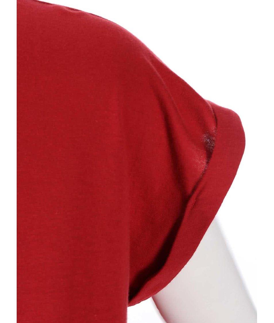 Červené dámské těhotenské tričko ZOOT Originál Koule