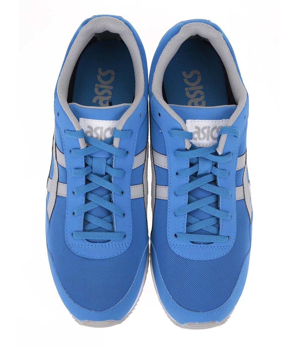 Šedo-modré pánské tenisky ASICS Curreo