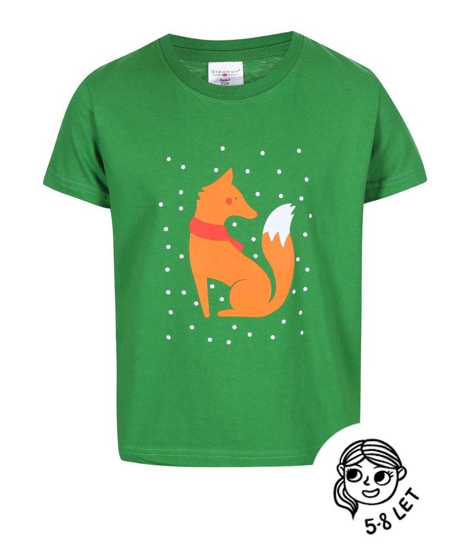 Zelené dětské tričko ZOOT Kids Lištička