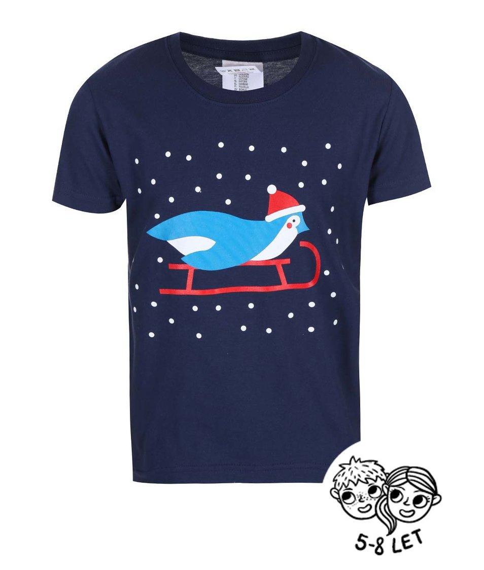 Modré dětské triko ZOOT Kids Tučňák