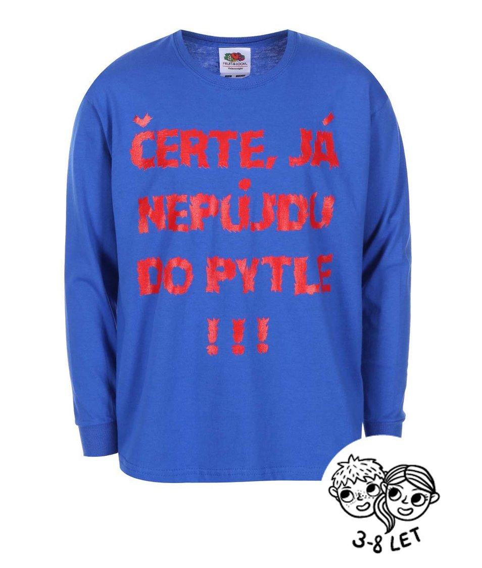 Modré dětské triko ZOOT Kids Čerte já nepůjdu