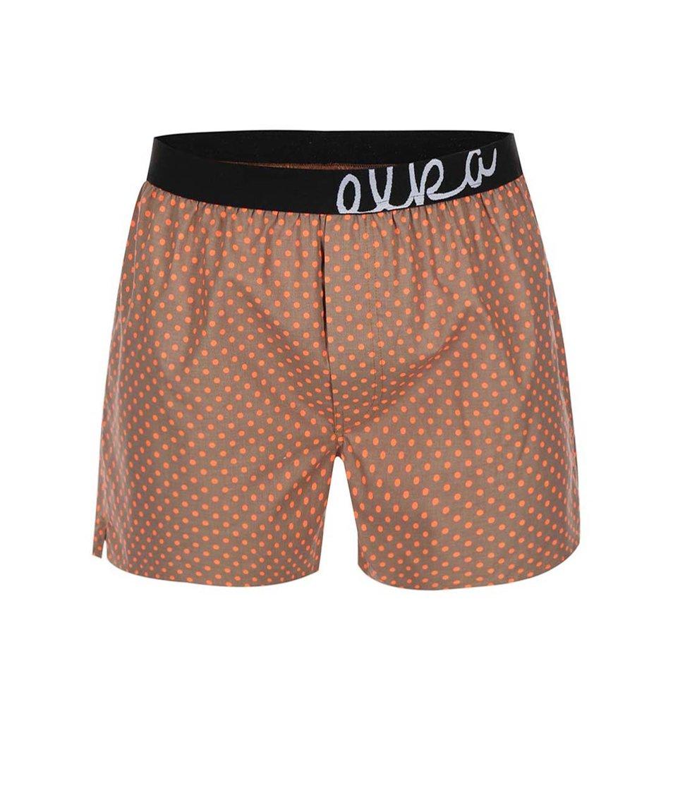 Hnědé puntíkované trenýrky El.Ka Underwear