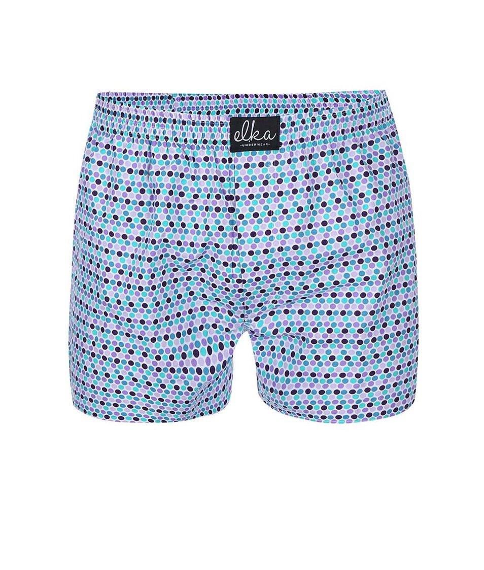 Bílé trenýrky s barevnými puntíky El.Ka Underwear