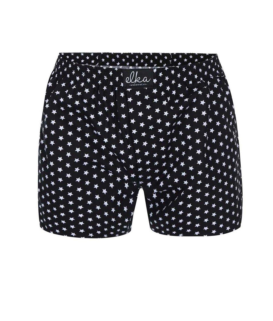 Černé trenýrky s hvězdami El.Ka Underwear