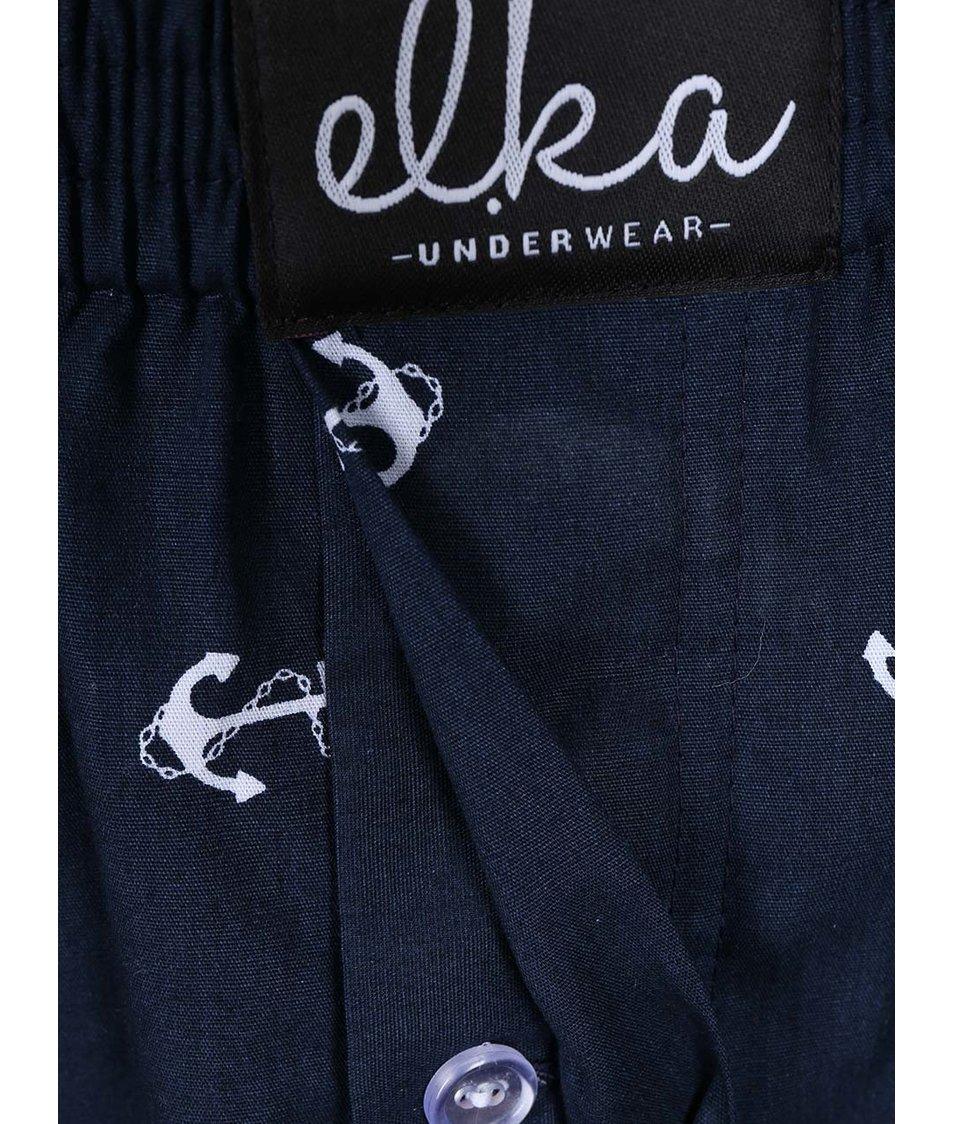 Tmavě modré trenýrky s kotvami El.Ka Underwear