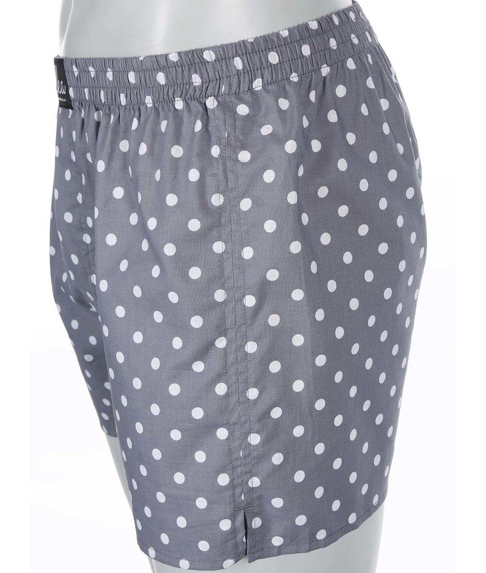 Šedé puntíkované trenýrky El.Ka Underwear