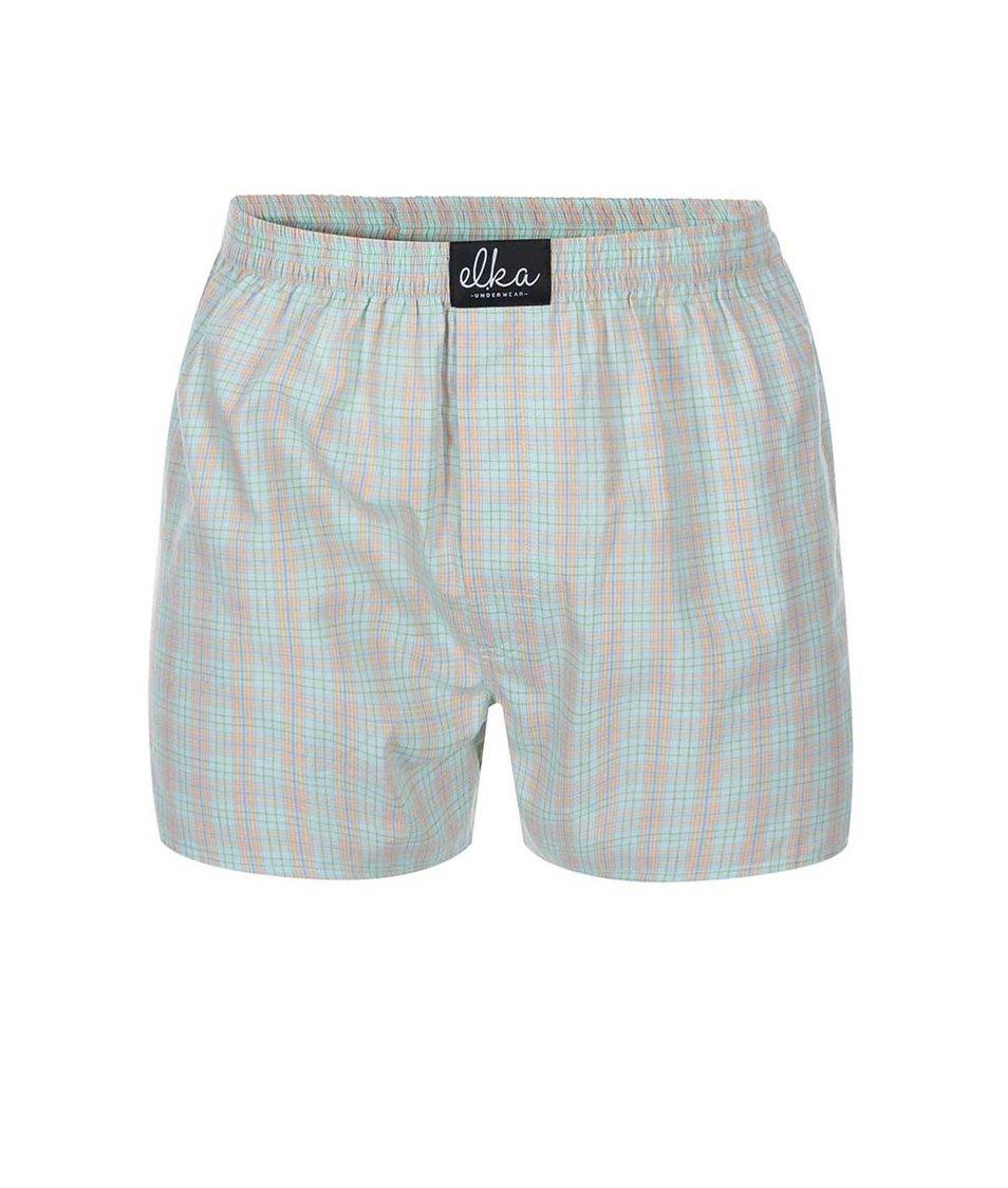 Světle zelené kárované trenýrky El.Ka Underwear