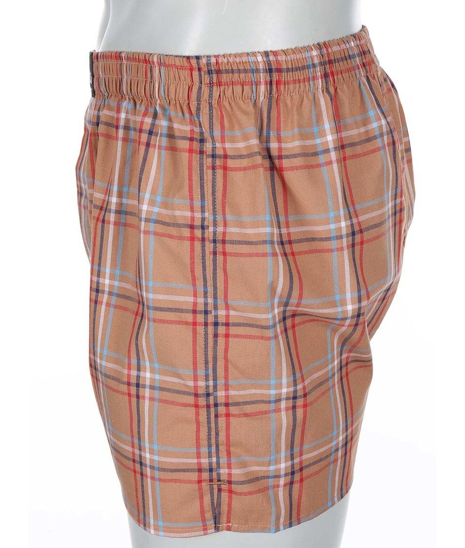Světle hnědé kárované trenýrky El.Ka Underwear