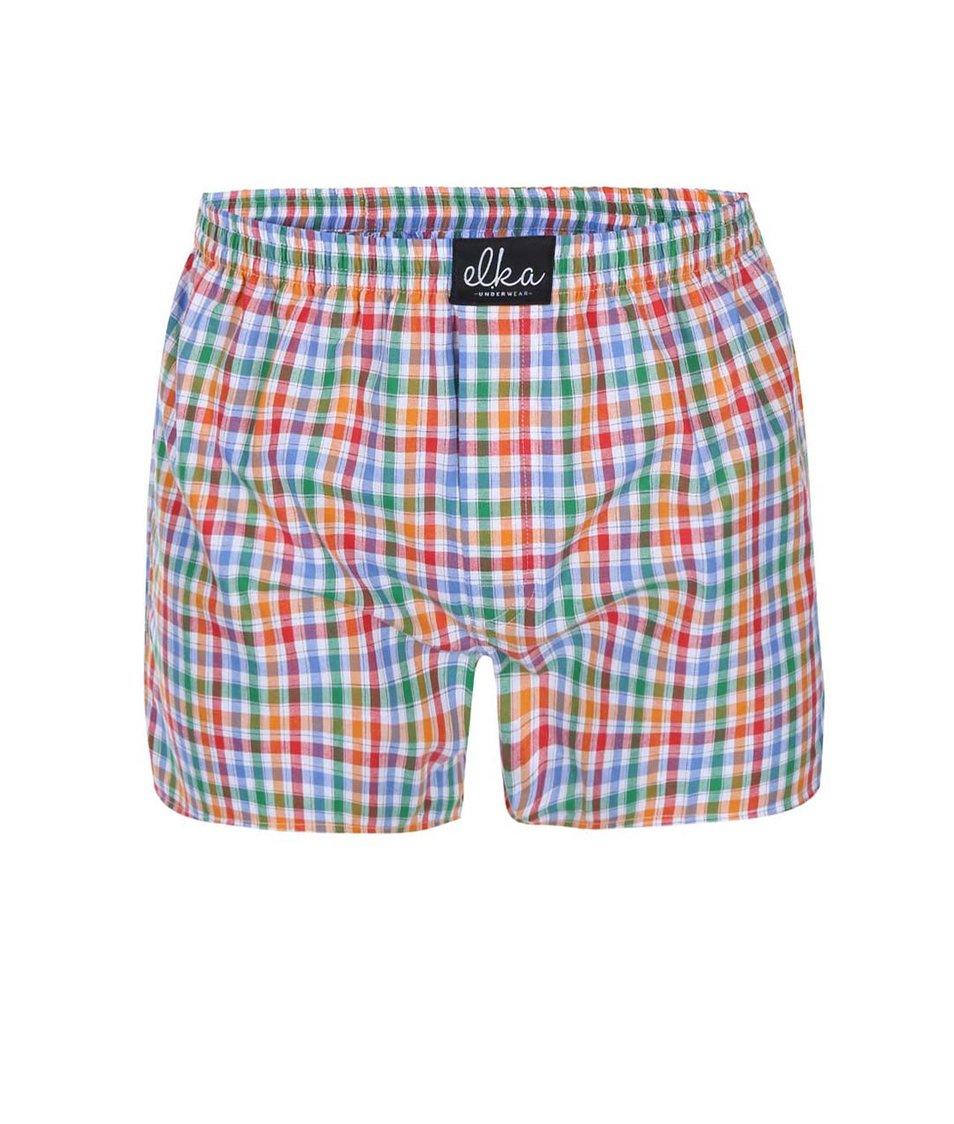 Barevné kostkované trenýrky El.Ka Underwear