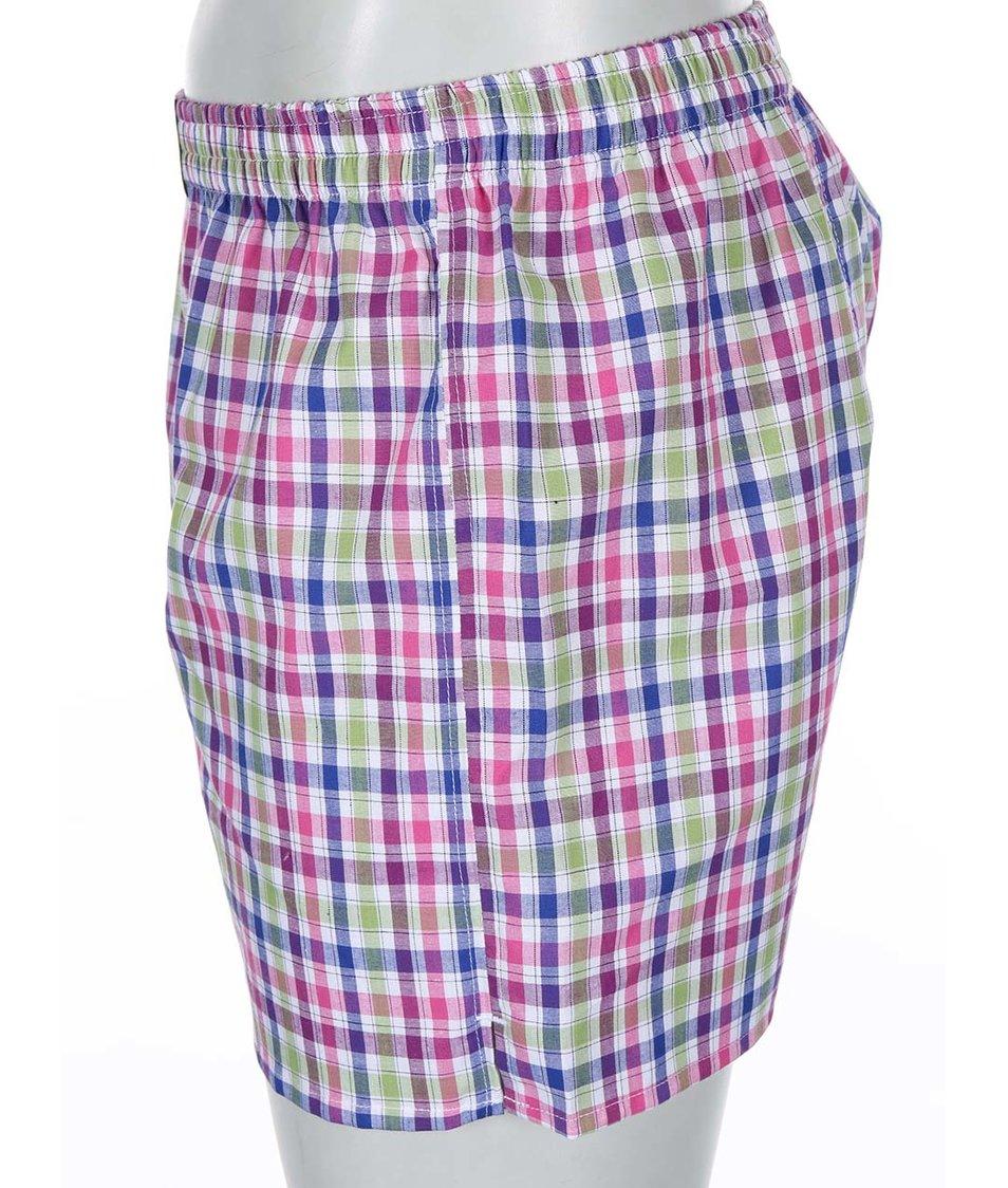 Modro-růžové kárované trenýrky El.Ka Underwear