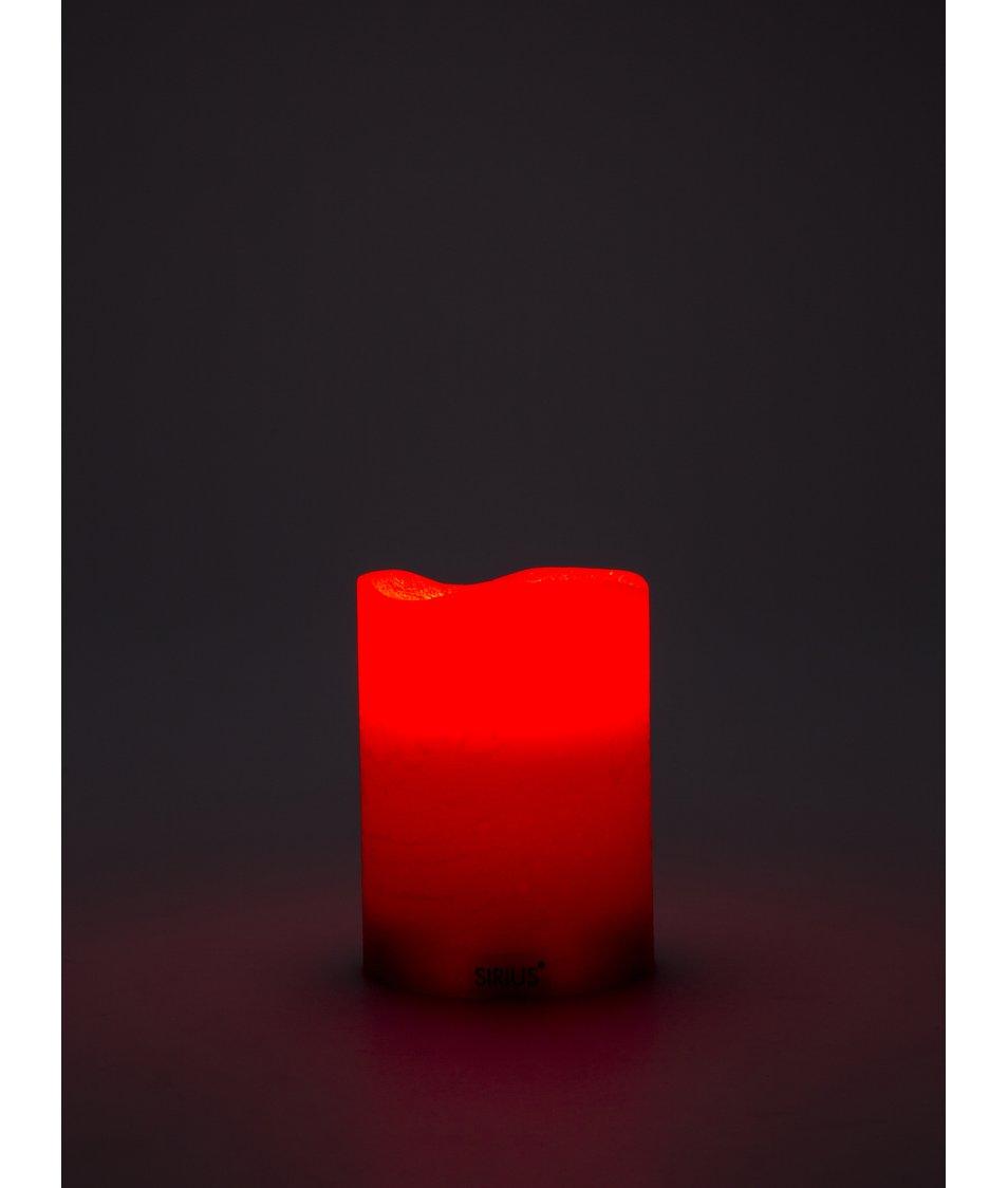 Červená střední LED svíčka Sirius