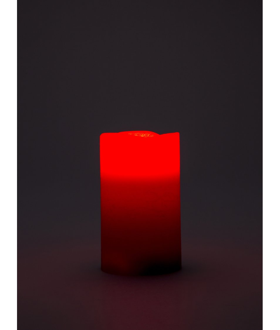Červená velká LED svíčka Sirius