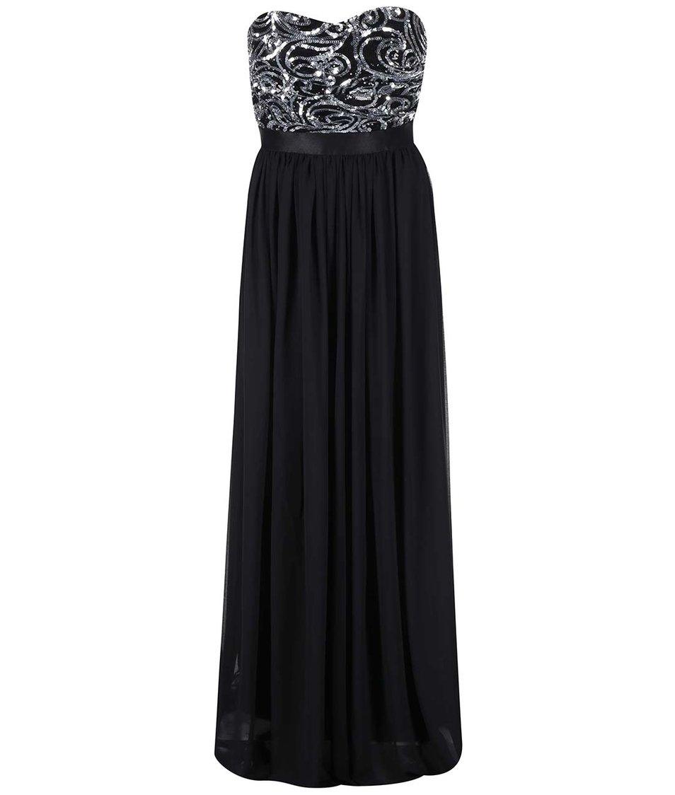 Černé šaty se zdobeným topem Goddiva
