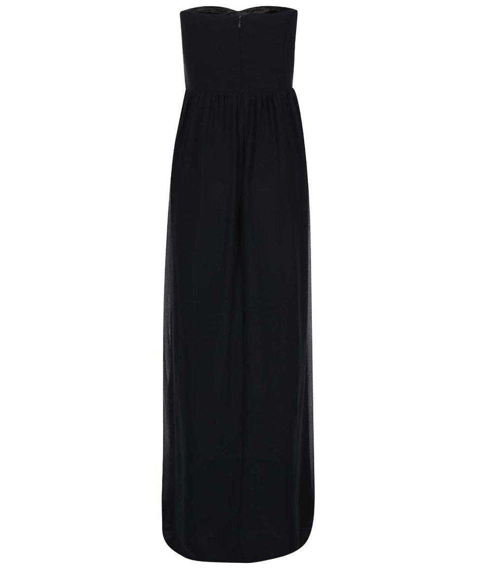 Černé šaty s květinovým topem Goddiva