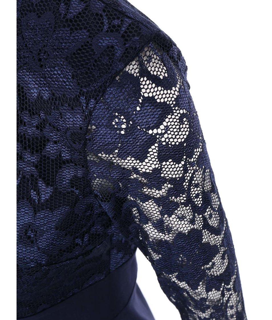 Modré šaty s krajkovaným topem Goddiva