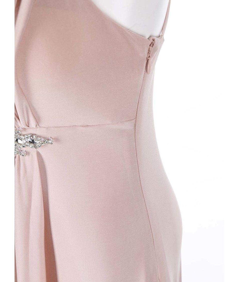 Starorůžové šaty se zdobeným detailem Goddiva