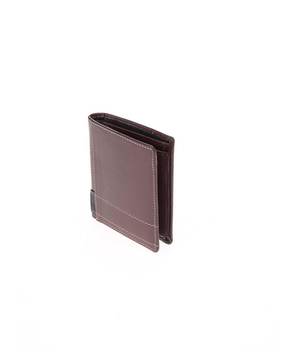 Hnědá kožená peněženka Lee Shirt