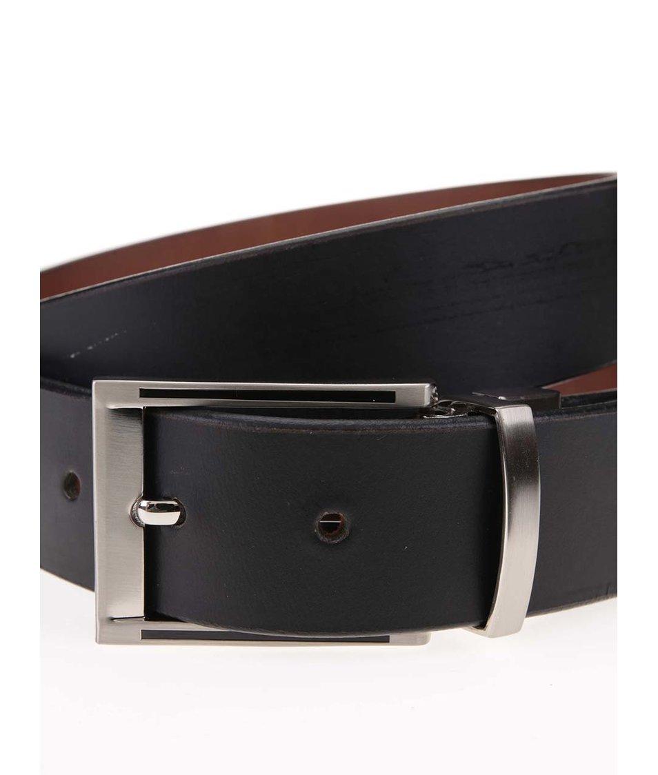 Černý kožený pásek Dice Iowa