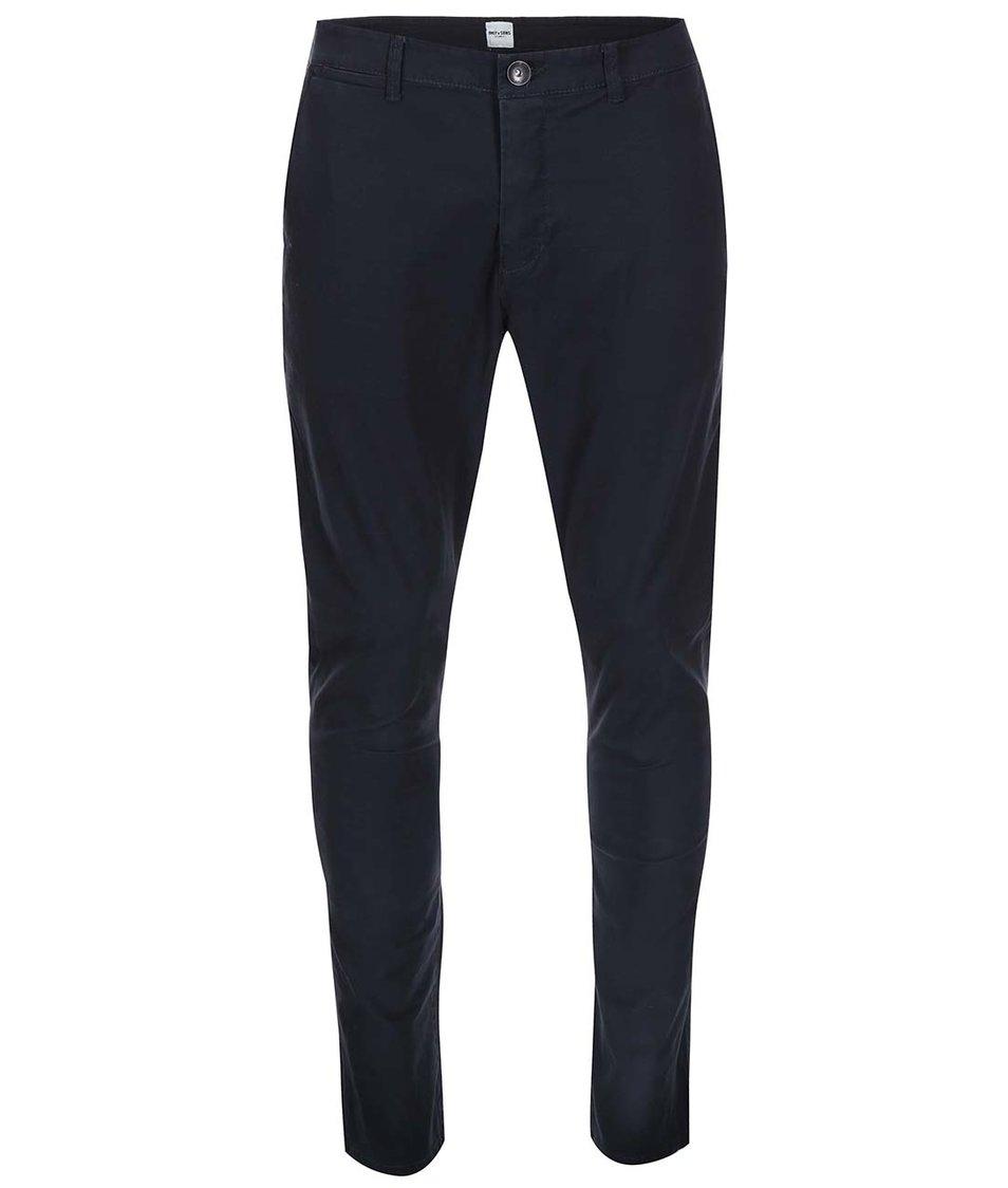Tmavě modré chino kalhoty ONLY & SONS Cale
