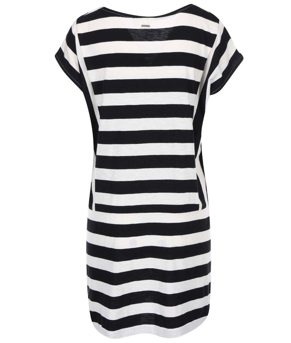 Černo-bílé pruhované šaty Roxy Seas The Day