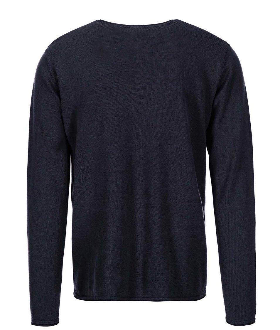 Tmavě modrý svetr s knoflíky ONLY & SONS Gandalf