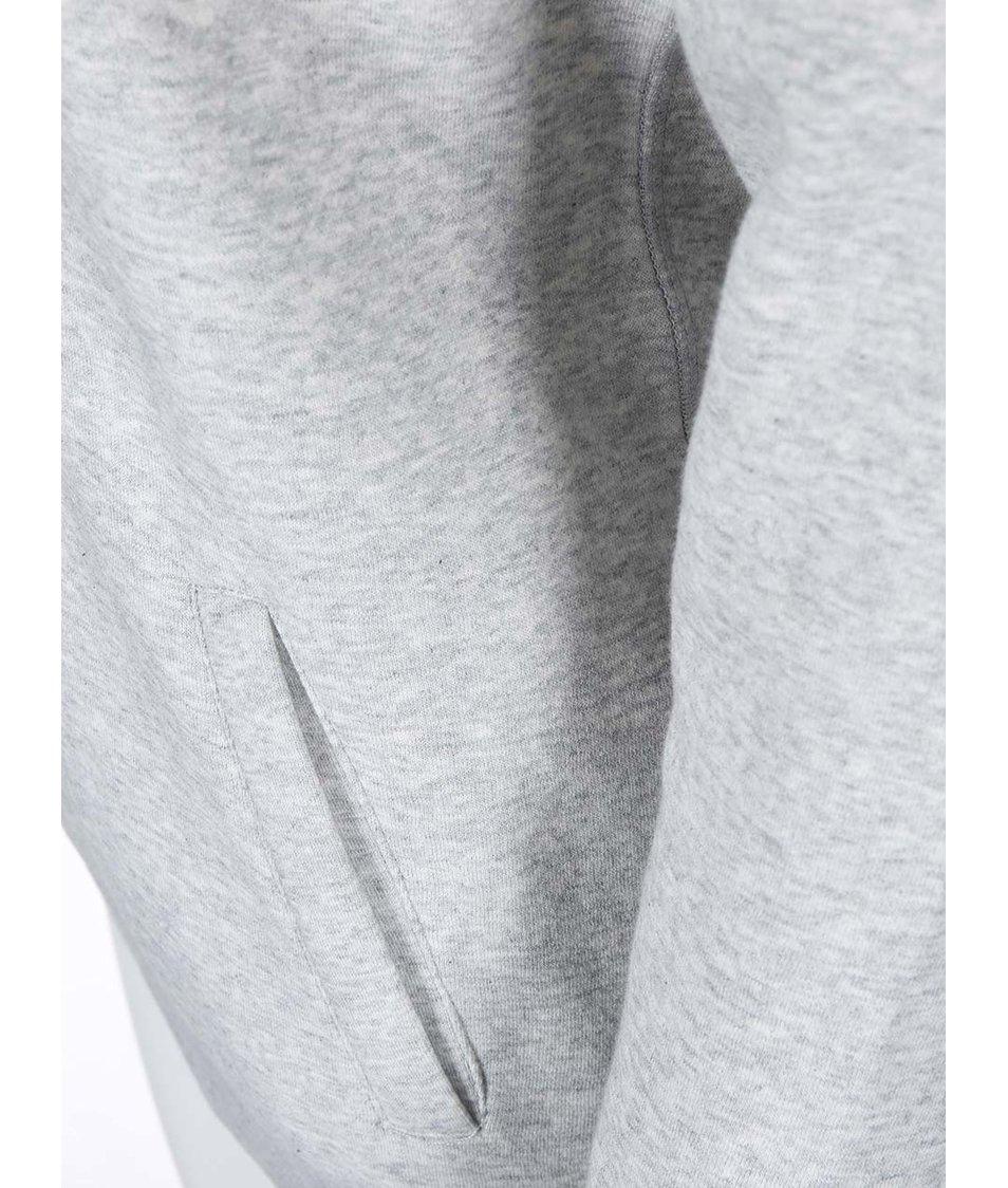 Světle šedá mikina se vzorovanou kapucí Roxy Cozy
