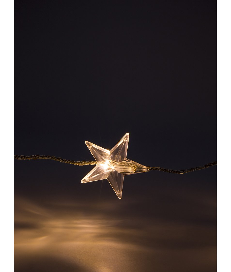 Bílé vánoční osvětlení s hvězdičkami decoLED