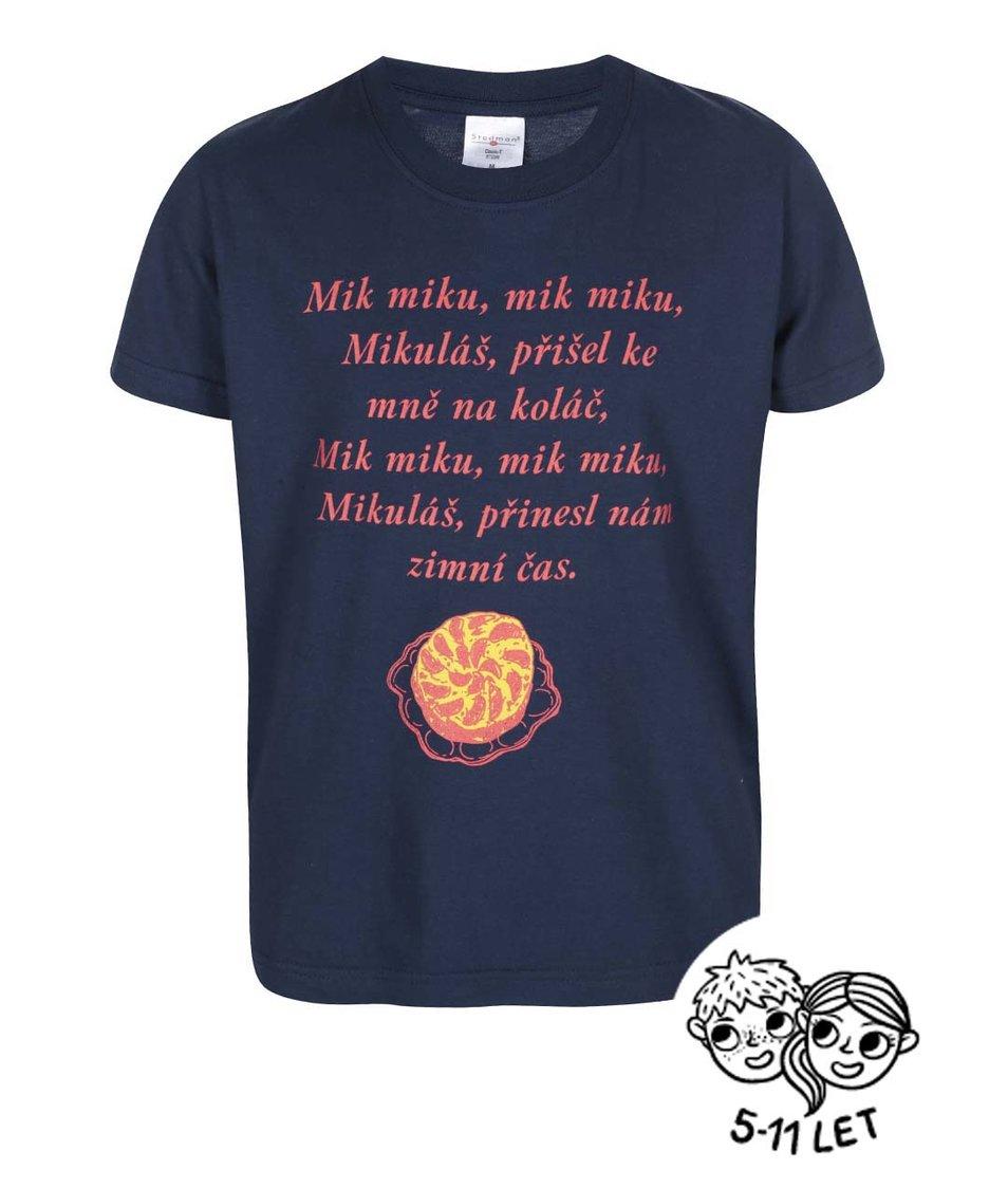 Modré dětské triko ZOOT Kids Básnička