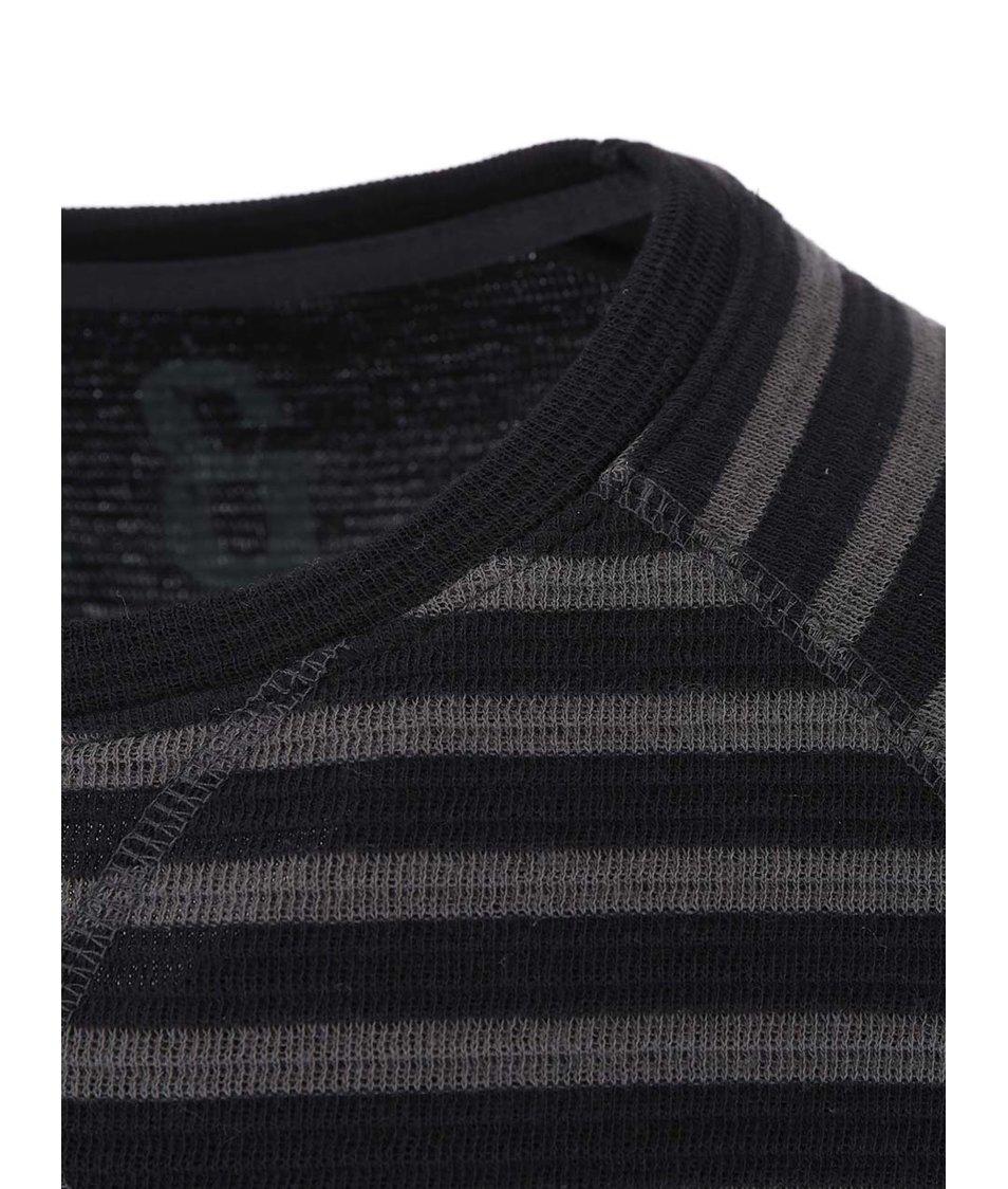 Šedo-černé pruhované triko ONLY & SONS Fariel