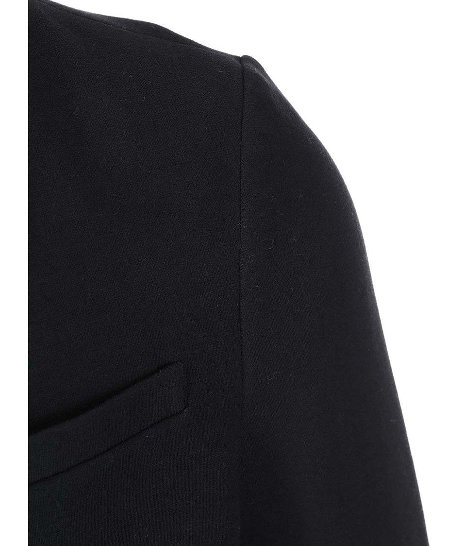 Černý blazer s koženkovými detaily ONLY & SONS Grady