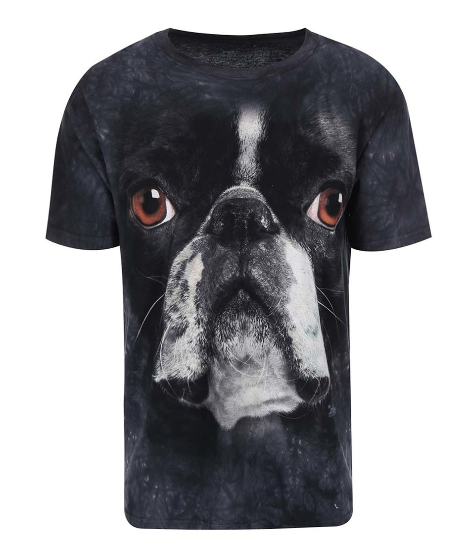 Unisex triko The Mountain Boston Terrier