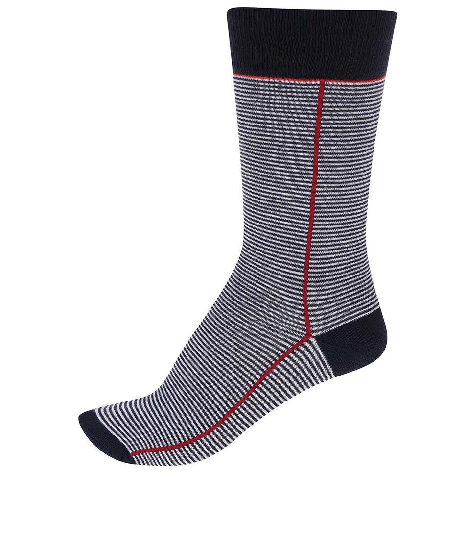 Bílo-modré ponožky s červeným pruhem CR7