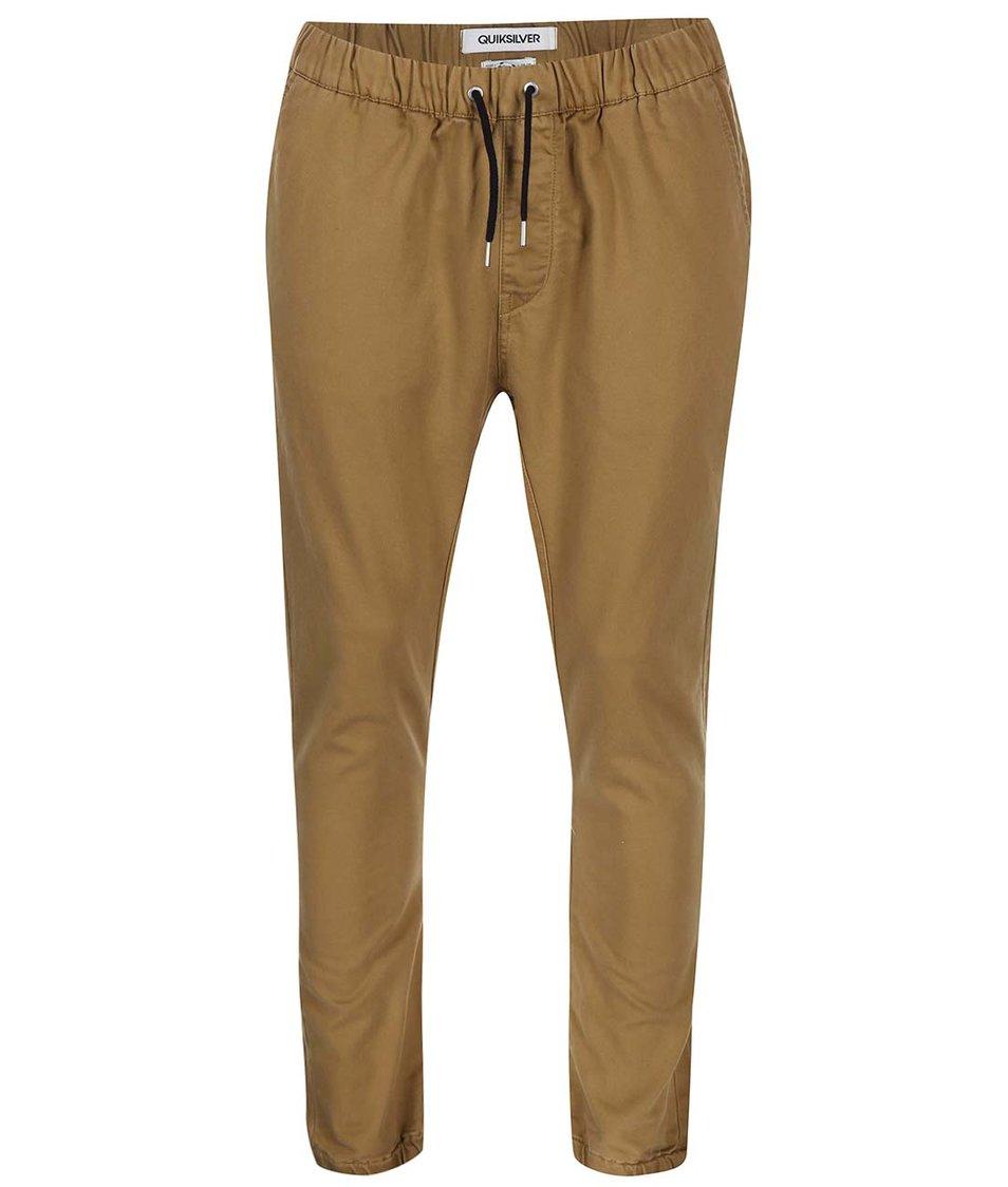 Béžové kalhoty se šněrováním Quiksilver Fonic