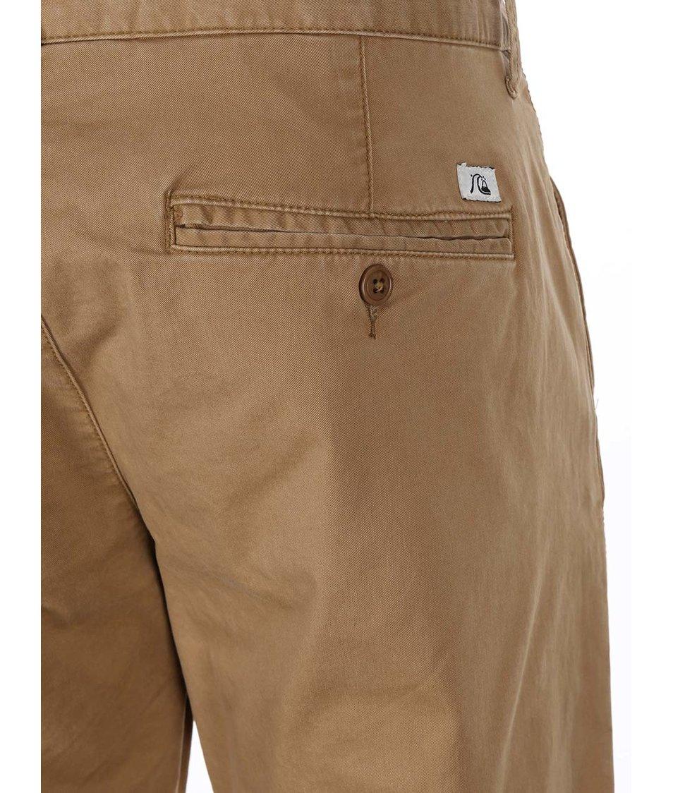 Béžové kalhoty Quiksilver Krandy