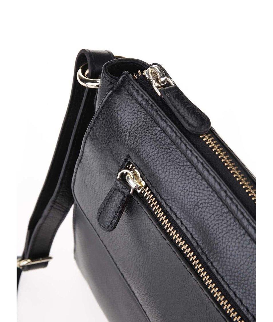 Černá kožená kabelka Clarks Touch Point