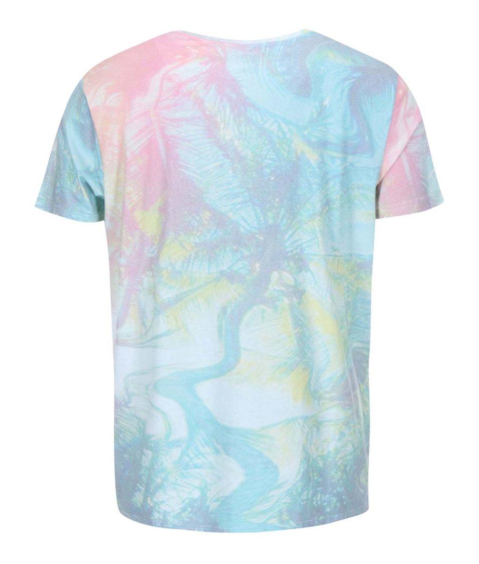 Barevné triko se vzorem Quiksilver Overhead