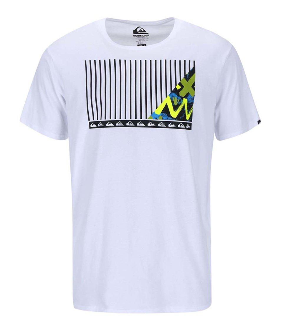 Bílé triko s potiskem Quiksilver The Wedge