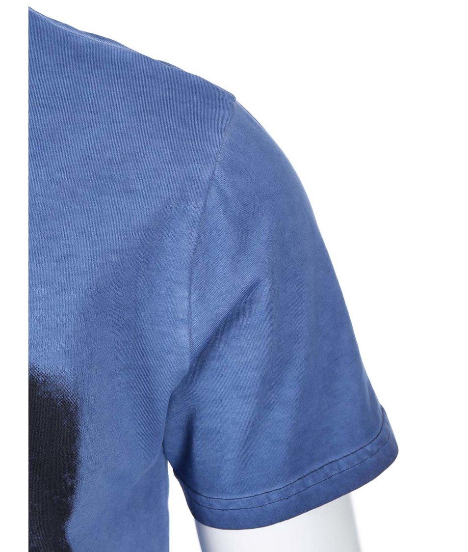 Modré triko s potiskem ONLY & SONS Joachim