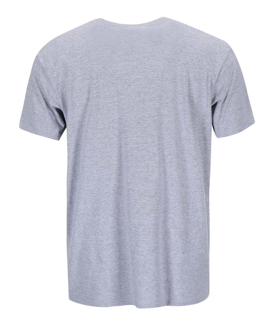 Světle šedé triko s potiskem Quiksilver Surapoca