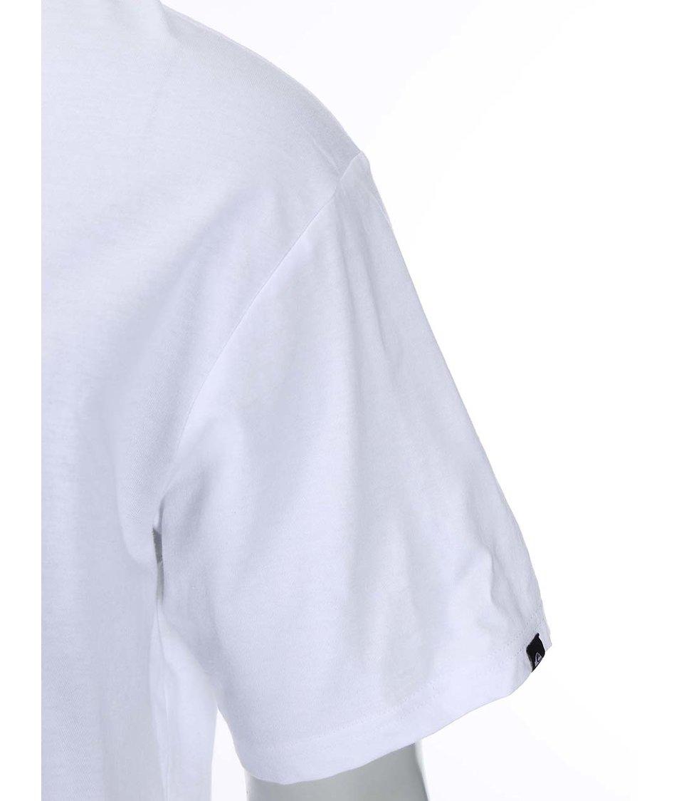 Bílé triko s potiskem Quiksilver Palm Pop
