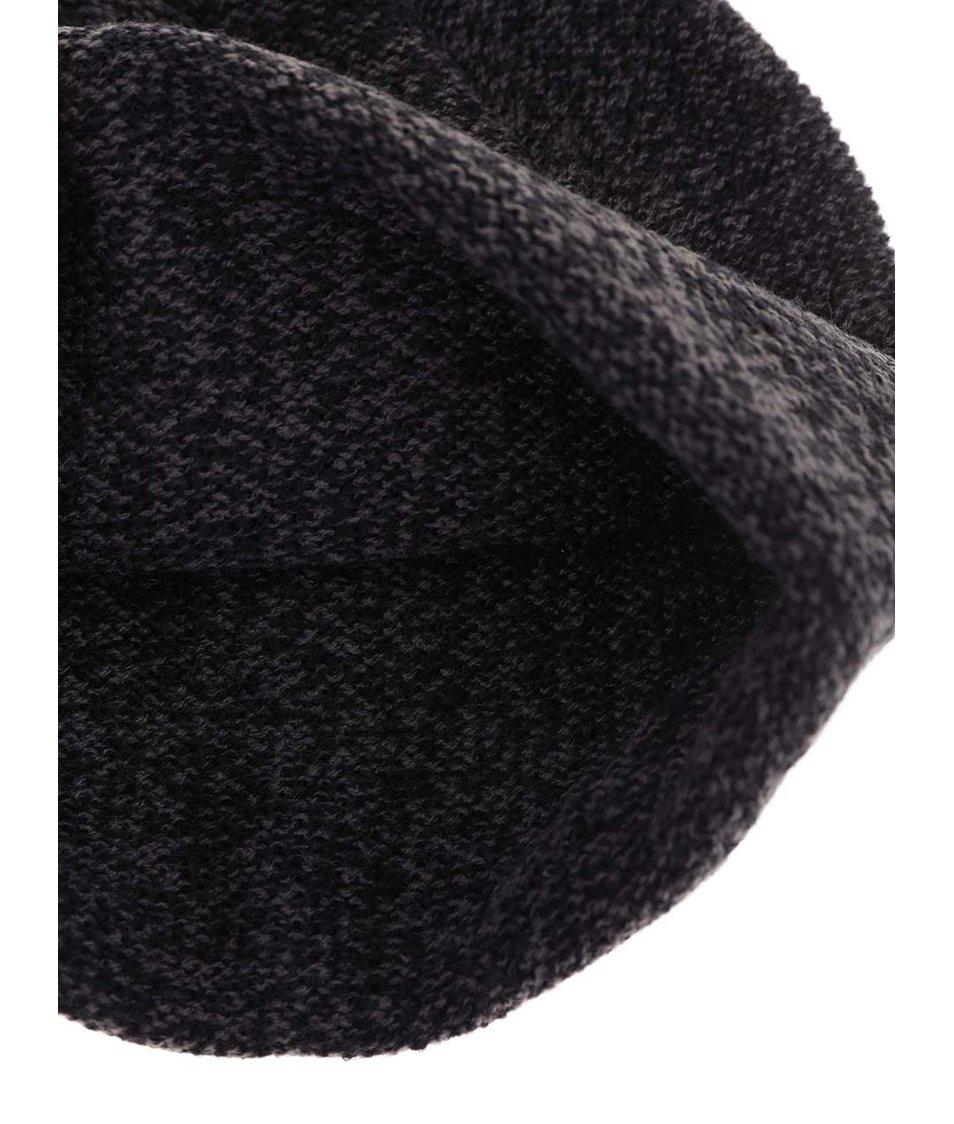 Černá žíhaná zimní čepice Quiksilver Toaster Beanie