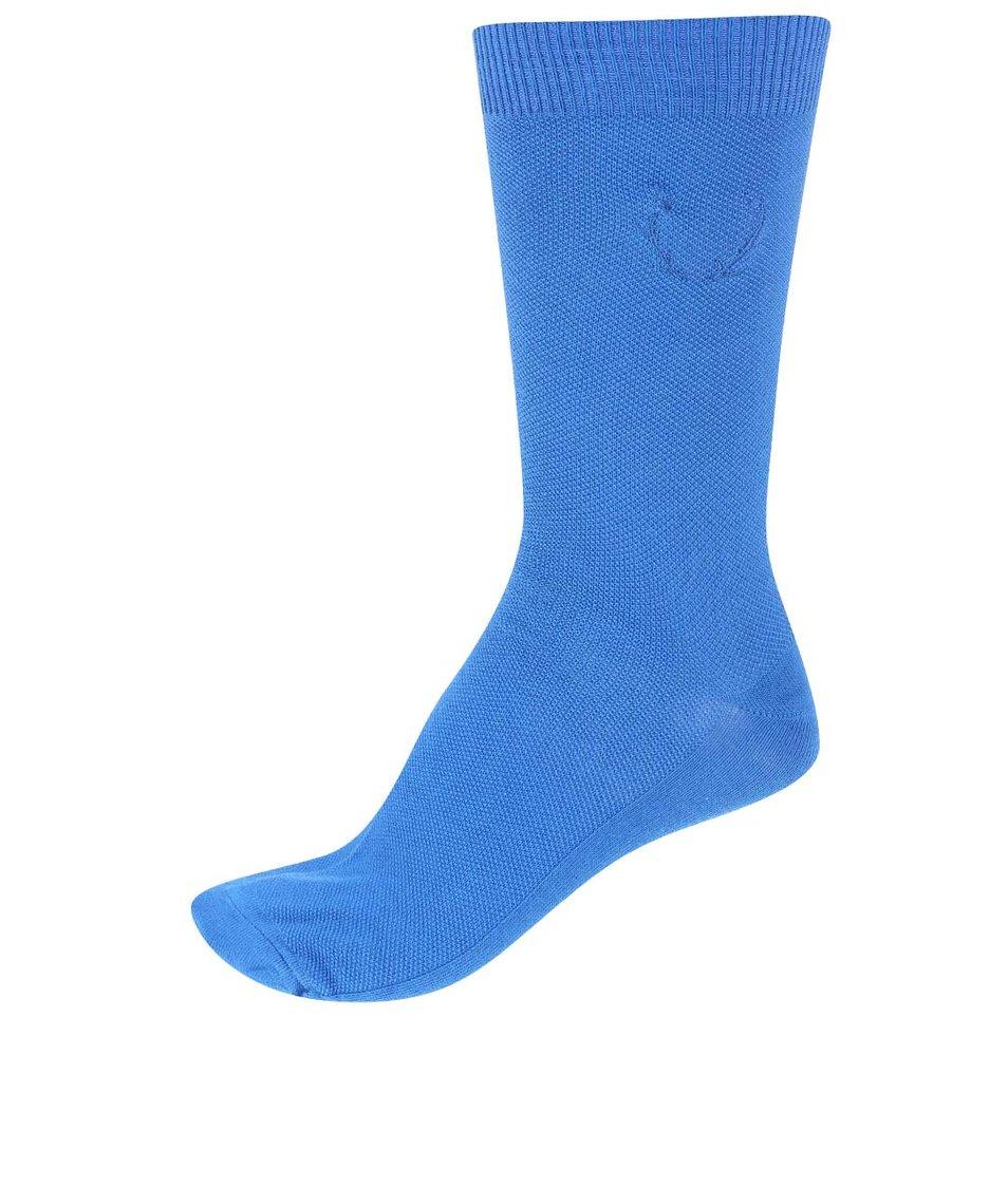 Modré ponožky Jack & Jones Waffel