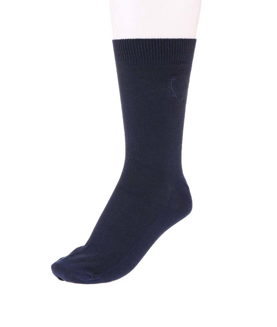 Tmavě modré ponožky Jack & Jones Waffel