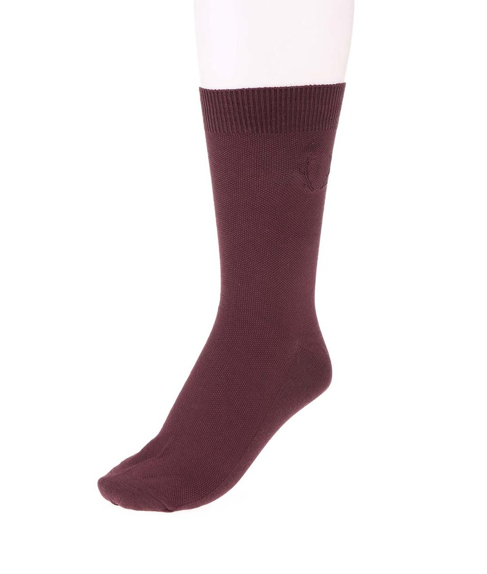 Vínové ponožky Jack & Jones Waffel